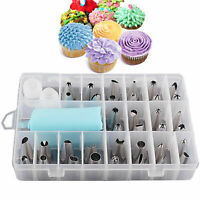 32 Piece Icing Piping Nozzles Tools Set Box Cake Cupcake Sugarcraft Decorating