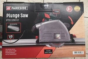 PARKSIDE PLUNGE SAW with rail  PTSS 1200 C2