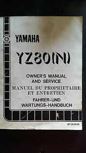 Yamaha YZ80N YZ 80 N Owners and Service Manual 1984