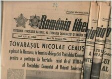 Romanian communist propaganda daily newspapers ROMANIA LIBERA lot of 10, 1983-87