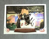 Michael Chavis Rookie Signed Card Boston Red Sox 2014 Bowman Rookie Night DN-MC