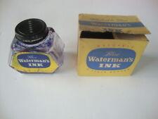 Vintage WATERMAN'S Blue ink bottle w/ box