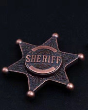 Metal Finger Stress Relief Police Sheriff Badge Hand Spinner Fidget With Box