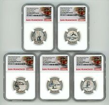 2018 S SILVER QUARTERS 25C SET REVERSE NGC PF70 FIRST DAY OF ISSUE 772-016
