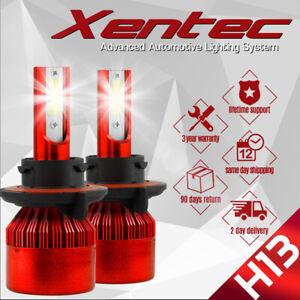 H13 9008 200W 20000LM CREE LED Headlight Kit Hi/Low Beam Bulb White 6000K Power