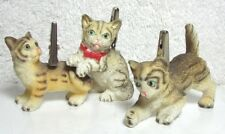 3 Little Kittens, Cat Photo/Notes clips holders (Tabby Bengal Marbled)