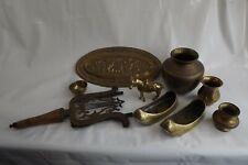 mixed brass items