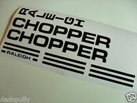 RALEIGH CHOPPER MK 1 DECAL SET  - VARIOUS COLOURS - CHOPPER STICKERS