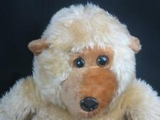 BIG VINTAGE MADE IN TAIWAN POTBELLY SHAGGY MONKEY TAN BROWN PLUSH STUFFED ANIMAL