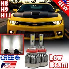 H11 H8 H9 60W 6000LM 6500K White Cree LED Error Free Low Beam Headlights Bulbs
