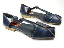 Clarks Originals navy leather flat shoes uk 4.5 D
