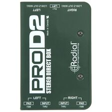 Radial ProD2 Passive Stereo Direct Box DI Guitar Bass Keyboard Pro D2 2 channel