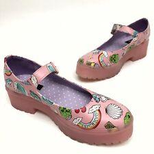 @ Iron Fist Women's Platform Mary Jayne Shoes Sz 9 Eu40 Pink Rubber Soles EUC