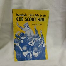 mid century 1958 CUB BOY SCOUT BS CAMPING equip CATALOG knives watches pennants+