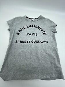 Karl Lagerfeld Cotten Grey T-shirt Age 14