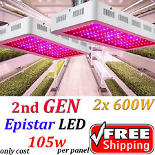 2PCS  600W Led Grow Light Full Spectrum Lamp Panel Plant Lights Hydroponic Bloom
