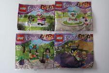 4 Lego Friends Polybags 30112 30204 30396 30399 NEU
