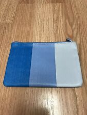 Ipsy June 2018 Blue Stripe Makeup Cosmetic Travel Bag Case