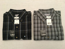 CARHARTT Men's Blue or Gray Plaid Reg. Fit L/S  Button Down Collared Shirt, Sz M