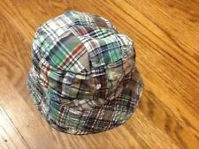 THE CHILDRENS PLACE BOYS BEACH SUN HAT PLAID BLUE RED SIZE 3T 4T
