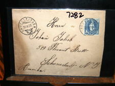 #7282,Seldom Seen,#94A,on Cover Switzerland to NY,1906