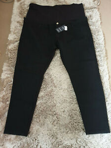 """M&S Black Skinny Stretch Maternity Jeans """"Over the bump""""  BNWT Size 24 Leg 26"""""""