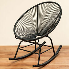 Chaises fauteuil à bascule noirs pour la maison