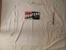 NEW MENS COTTON WHITE LONG SLEEVE T-SHIRT 20TH ANNIV INDIANAPOLIS IN STRETCHY XL