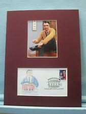 """Fred Rogers of """"Mister Rogers' Neighborhood"""" & First Day Cover of his own stamp"""