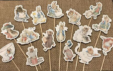 Peter Rabbit Cupcake Toppers Baby Shower Birthday Cake Picks Party
