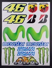 Rossi Valentino The Doctor Movistar MotoGP motorcycle car decals badge stickers