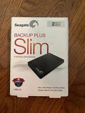 Seagate Backup Plus Slim 2TB External Portable HDD – USB 3.0 (STDR2000100)