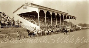 1915 era photo Negative HORSE RACE Racing TRACK in or near Madison Wisconsin