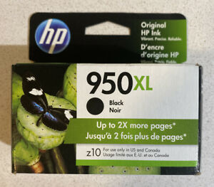 NEW GENUINE - HP 950XL BLACK INK CARTRIDGE - CN045AN - SEALED BOX 06/2021