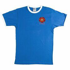 Blackburn Rovers 1970s Retro Football T Shirt Embroidered Crest S-XXXL