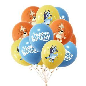 """bluey 12 pcs 12"""" Latex Birthday Party Fun DECOR AU STOCK balloon"""