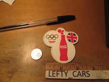 OLYMPIC COCA-COLA BOTTLE EMBROIDERED SMALL RUBBER PATCH