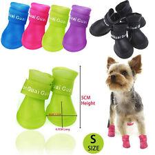 4pcs/set S M L Rubber Rain Walk Shoes Pet Dog Puppy Adjustable Waterproof Boots