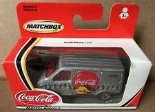 Matchbox Mattel Coca-Cola Wheels 2002 Ford Van silver logos side of van #92353