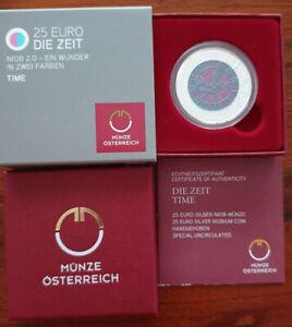 Österreich 2016 25€ NIOB 2.0 Ein Wunder in zwei Farben TIME Silber