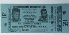 1965 Ali vs Liston Full Ticket Heavyweight Boxing Championship