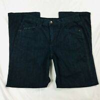 Lee Womens Most Comfortable Jeans Size 8 Dark Blue Mid Rise Elastic Waist