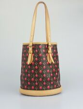 Louis Vuitton Monogram Cherry Coated Canvas Bucket Bag Handbag
