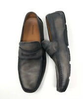 Magnanni Dylan Tabaco Driver Loafers size US 10.5 15759 Charcoal Grey Tobaco