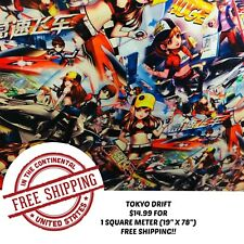 "HYDROGRAPHIC WATER TRANSFER HYDRO DIPPING TOKYO DRIFT FILM 1SQ (19"" X 78"")"