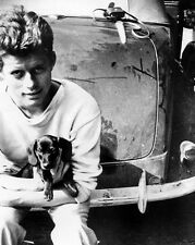 JFK John F. Kennedy with dachshund at The Hague Netherlands 1937 New 8x10 Photo