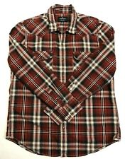 American Eagle Outfitters Mens XL L/S Button Front Shirt Pearl Snaps 100% Cotton