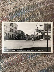 1945 Photo Postcard--IDAHO--Coeur D'Alene-4th Street-Wilsons Drug Soda CocaCola