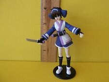 "Samurai Spirits Prize Figure Rimururu 4""in PVC Figure  Blue,White,Purple Outfit"