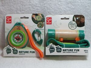 Nature Fun Hand-Powered Flashlight & Compass Set By Hape Eco Friendly Toys 4Y+